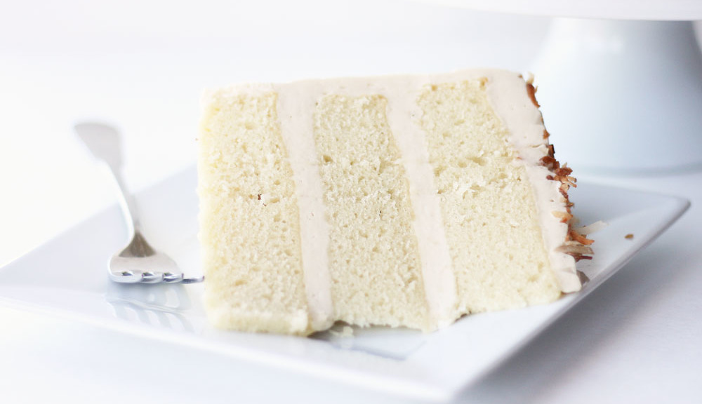 French Vanilla Coconut Cake