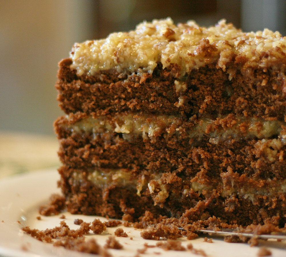 German Chocolate Cake With Cake Flour