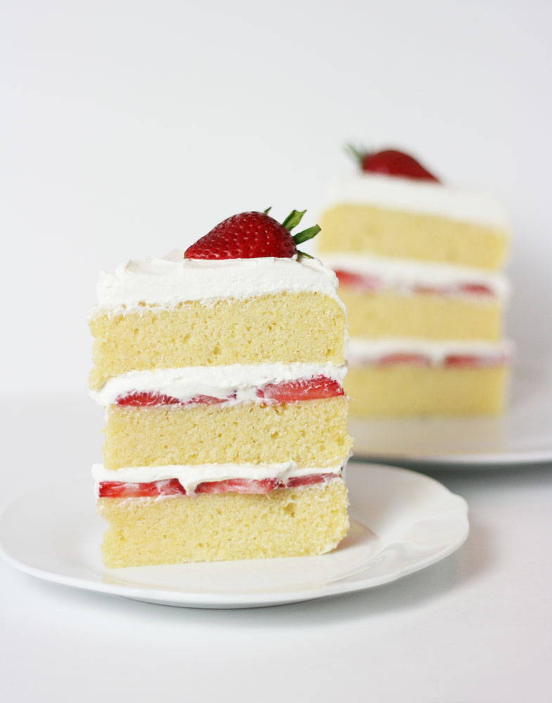 strawberries and cream cake filling