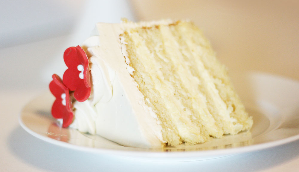 White Chocolate Velvet Cake