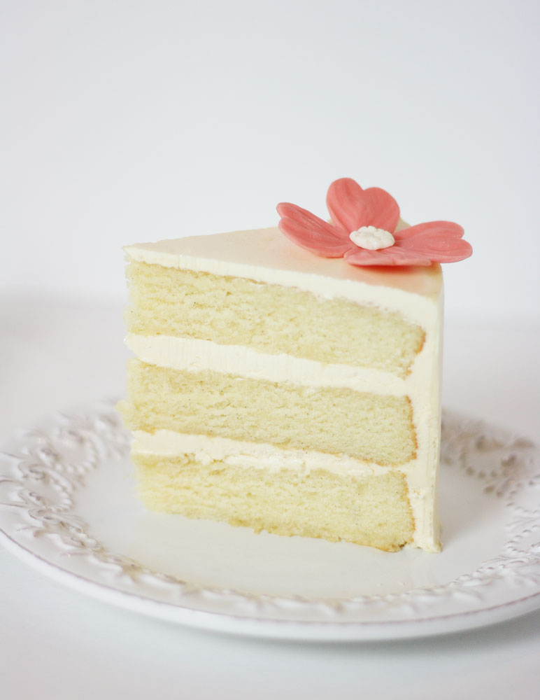 Sour Cream Vanilla Bean Cake with French Sour Cream Buttercream ...