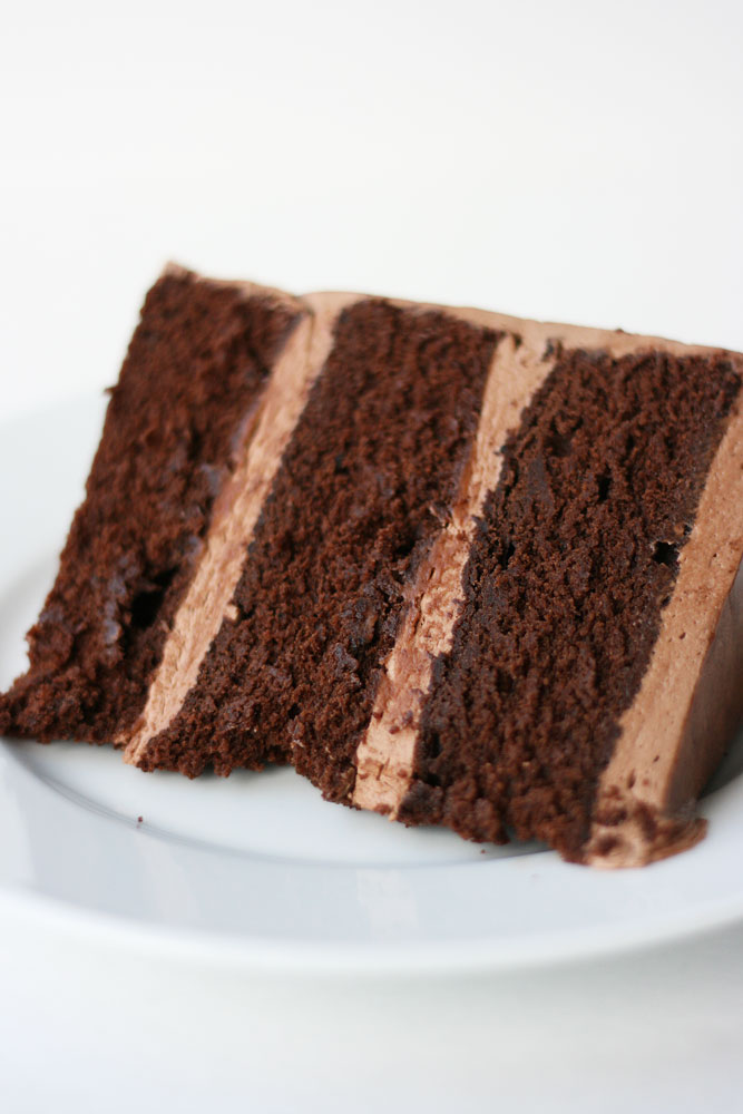 Quintessential Chocolate Cake with Whipped Chocolate Frosting Cake